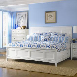 B1475  Panel Storage Bed (침대+협탁+화장대)