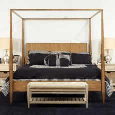 Modern Country  Canopy Bed (침대+협탁+화장대)