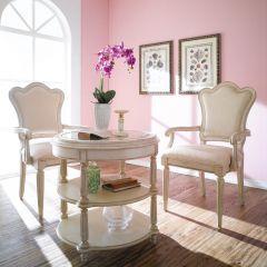 프로방스 Love Round Table + 2 Arm Chairs