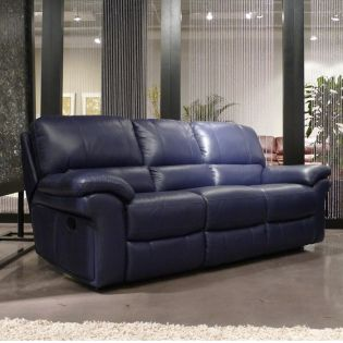 2708  Leather Recliner Sofa