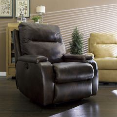 1228-500-Black  Leather Recliner