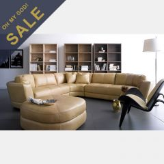 7687DL  Leather Sofa