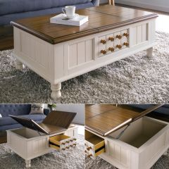 T3661-50  Storage Cocktail Table
