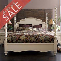 B2158  Poster Bed (침대+협탁+화장대) +봉높이 조절 가능한 침대+