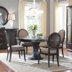 81225 Optum  Round Dining Set (1 Table + 2 Arm + 2 Side)