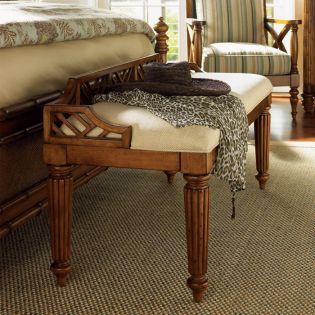 Island Estate  Plantain Bed Bench