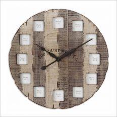 6672  Barn Wood Clock