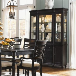 1521 Glen Cove Espresso  Display Cabinet