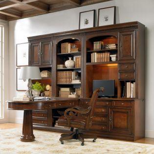 374-10  Credenza & Wall Desk Unit