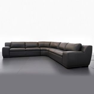 8298  Sectional Leather Sofa