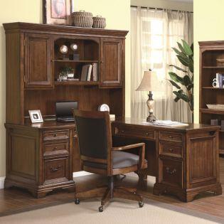 1208-48/44 Valencia  L Desk with Hutch