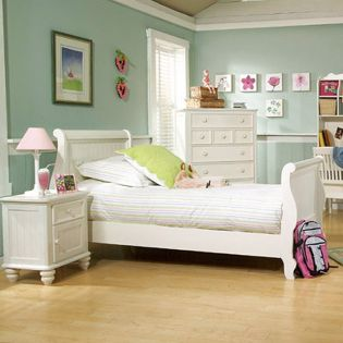 481-4304K Summer Breeze  Sleigh Full Bed (침대) (매트 규격: 134cmx 193cm)