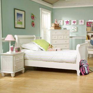 481-4304K Summer Breeze  Sleigh Full Bed (침대) (매트 규격: 134cmx 193cm)