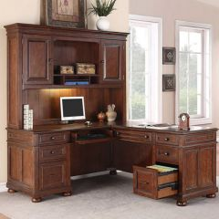 1209-48/44 American Heritage  L-Desk with Hutch