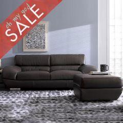 DIV 837-Espresso  Leather Sofa