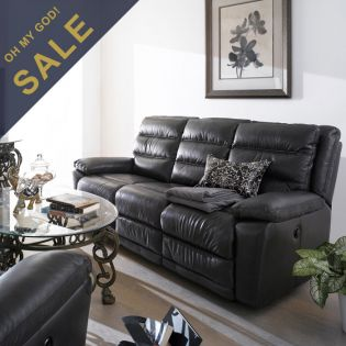 E604  Power Leather Recliner Sofa