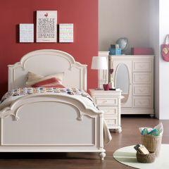 3850-4104K Charlotte  Panel Full Bed (침대) (매트 규격: 134cmx 193cm)