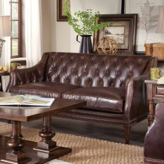505515 Kennedy  Leather Settee