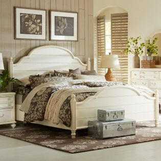3510-4105K Haven  Low Poster Bed (침대+협탁+화장대)