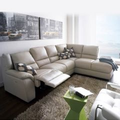 E863  Power Leather Recliner Sofa