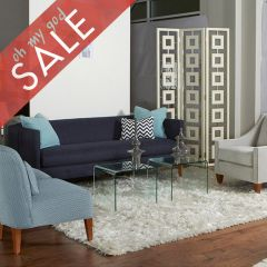 N760-220 (11891-23) Claire-Blue  Sofa~Made in the USA~