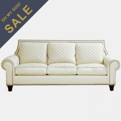 704501-5001 Wellesley  Quilted Leather Sofa