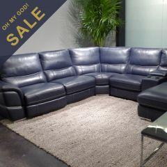 9897-CS  Power Leather Recliner Sofa