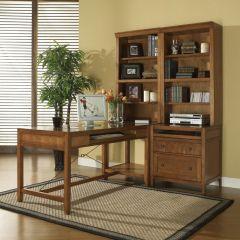 IQ-COM-AM  Companion Modular Desk w/ Bookcase  ~Good Quality~