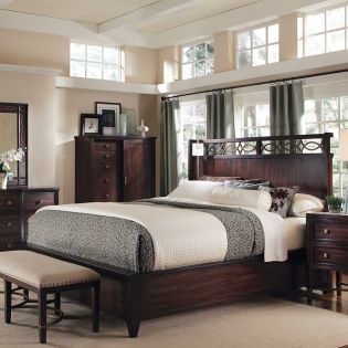 Intrigue 61176  King Shelter Bed (침대만)