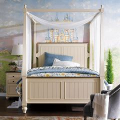 YB1694  Canopy Single Bed (침대) (매트 규격: 120cmx 203cm)