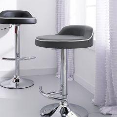 64988-Grey-Solina  Adjustable Bar Stool