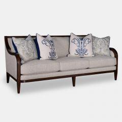 516521 Bristol Linen  Tapered Legs Sofa