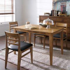 Capuchino  Dining Set (1 Table + 4 Chairs) ~Ash 나무로 제작됨~
