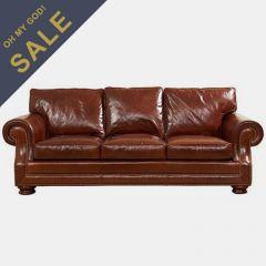 705501-5001 Wharton  Chestnut Wipe Off Leather (Sofa)