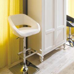 20726-White-Gustavo  Adjustable Bar Stool