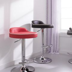 64984-Red-Solina  Adjustable Bar Stool
