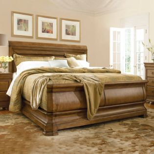 New Lou 07176  Sleigh Bed (침대+협탁+화장대)