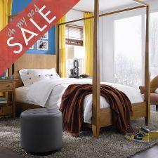 Modern Country  Canopy Single Bed (침대) (매트 규격: 120cmx 203cm)