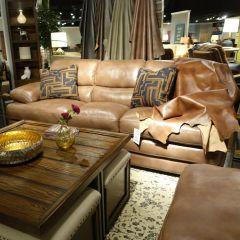 1127-31  Leather Sofa