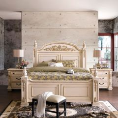 B8168-White  Panel Bed (침대+협탁) ~French Style~