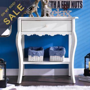 Milan-White  Nightstand
