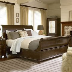 River House 39375B  Sleigh Bed (침대+협탁+화장대)