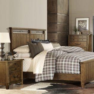 4740-4105K Queen  Panel Bed (침대+협탁+화장대)