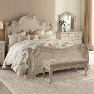 243155-2617 Renaissance  Estate King Panel Bed (침대+화장대)