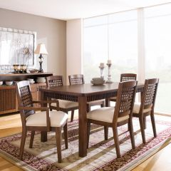 D88-6  Dining Set (1 Table + 2 Arm + 4 Side)   ~Top Quality~