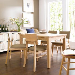 Kathy-4-Natural  Dining Set (1 Table + 4 Chairs)