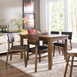 Kathy-4-Walnut  Dining Set (1 Table + 4 Chairs)