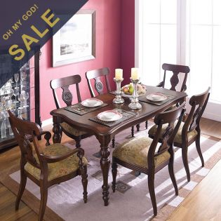 D621  Dining Set (1 Table + 2 Arm + 4 Side) ~Excellent Quality~