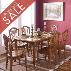 D624  Dining Set (1 Table + 2 Arm + 4 Side) ~Excellent Quality~