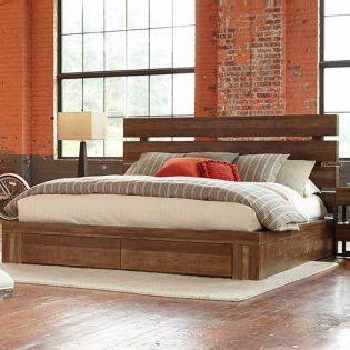 223125 Epicenters  Platform Storage Bed (침대+협탁+화장대)